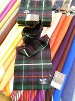 100% Cashmere Scarf   Johnstons of Elgin   Made in Scotland   Mackenzie   Tartan