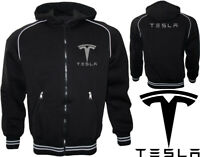 Tesla Model Capuche Polaire Veste Fleece Jacket Blouson Chaqueta Giacca Cadeau
