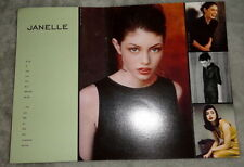 Vtg Janelle Fishman model agency card 1990s fashion vogue elle Paris Italia Ford