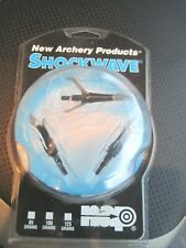 NEW ARCHERY PRODUCTS SHOCKWAVE BLADES  100 GRAINS PACK OF 3