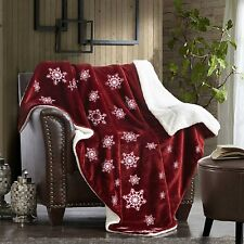 """Super Soft Luxurious Winter Blanket Flannel Sherpa Throw 40"""" X 60"""" for Christmas"""