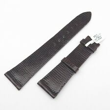 NOS Rolex 22mm Brown Lizard Leather Strap Mens Regular Length Band Unstitched