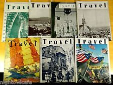 7 TRAVEL Magazines 1946 Okinawa China Iraq Easter Island Death of a Maharaja