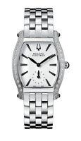 Bulova Accu Swiss Women's Saleya Diamond Accents Tonneau 28mm Bracelet Watch
