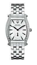 Bulova Accu Swiss Women's Saleya Diamond Accents Tonneau 28mm Bracelet Watch