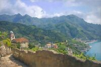 """Amalfi Coast"" June Carey Limited Edition Fine Art Giclee Canvas"