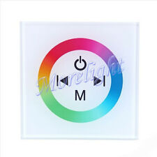 Touch Panel LED Controller DC 12V Dimmer Control 3CH For RGB 4pin Strip Light