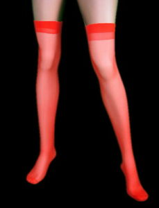 Red Sheer Stockings thigh high tights