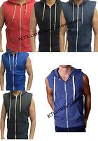 Mens Gilet Sleeveless Sweatshirt zipper Hoody Top Jumper Hoodie Casual New s-xxl