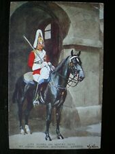 POSTCARD MILITARY GUARD ON SENTRY DUTY AT HORSE GUARDS WHITEHALL LONDON