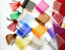 25 PCS 8*10cm Jewelry Gift Pouch Organza Portable Bags Wedding Xmas Favors Pink