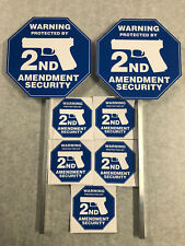 NEW 2nd Amendment SECURITY (2)YARD SIGNS & 5 STICKERS like ADT *FREE SHIPPPING*