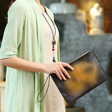 Ladies Wristlet Bag Genuine Leather Womens Clutch Bag Shoulder Bag Wallet