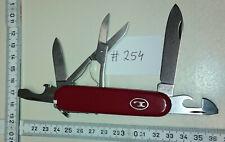 ADLER Messer Germany Leegebruch 3-Layer vintage pocket knife - 11 functions c254