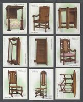 1923 Wills's Cigarettes Old Furniture Large Tobacco Cards Complete Set of 25