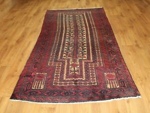 Traditional Vintage Wool Handmade Classic Oriental Area Rug Carpet 266 X 113 cm