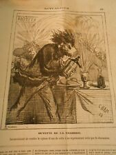 Caricature 1873 - Drawback to entrust the SIPHON water Seltzer