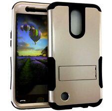 LG Harmony / V5 / K20 Plus / K20V - Hybrid Armor Kickstand Phone Case Gold Black