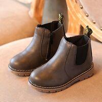 Jungen Mädchen Warm Winter Leder Schneestiefel Warme Weiche Schuhe Boots Kinder