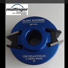 FLURY SYSTEMS Universal-Profilmesserkopf 100x40/50mm