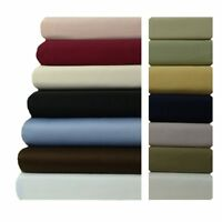Plush 100% Cotton Bed Sheet Set with 600 Thread Count and Extra 22 Inch Pockets