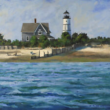 Mark Maritato Sandy Neck Lighthouse Barnstable Cape Cod Mass Signed Art Print