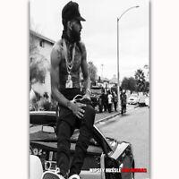 Art Nipsey Hussle Rapper Hot Hip Hop Music Singer Star L-W Canvas Poster P-108