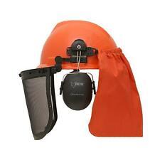 FUXTEC Forstschutzhelm Kettensäge Forsthelm Gesichts + Gehörschutz  Schutzhelm