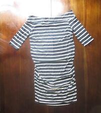 Asos New Look Maternity Stripe Bardot 3/4 Sleeve Nautical Dress US sz 10