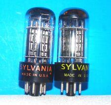 6BL7GTA Sylvania 3 mica vintage vacuum radio tubes 2 valves tested 6BL7GT 6BL7