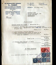 "COLOMBES (92) EQUIPEMENTS de SONORISATION ""P. MORIN"" en 1953"