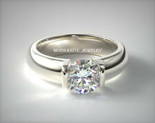 2.00 ct G-I Beautiful Round Cut Moissanite 925 Sterling Silver Wedding Ring