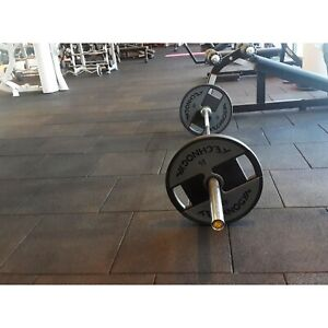 Cannons UK Heavy Duty Luna Rubber Free Weight Mat Commercial Grade Gym Flooring