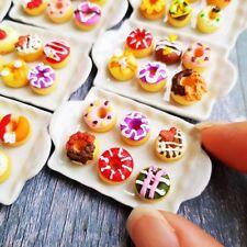 1x Random Fancy Doughnut Ceramic Tray Dollhouse Miniatures Food Bakery Barbie