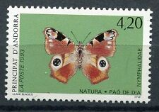 TIMBRE ANDORRE FRANCE NEUF N° 433  **  FAUNE PAPILLONS INACHIS IO