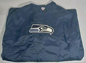 Reebok Seattle Seahawks NFL Equipment Sideline Trench Coat Cape Mens Sz XL
