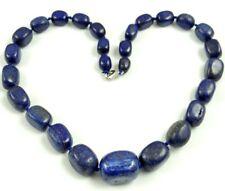 Natural lapis lazuli beads pendant Gemstone Handmade Making Necklace Jewellery