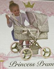 More details for hauck prince princess childrens ranger dolls pram buggy pink / gold 3+ years toy
