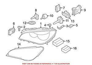 For BMW Genuine High Intensity Discharge Headlight Igniter Front 63117355074