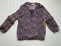 Anthropologie Eden & Olivia Floral Semi-Sheer Top Size Medium NEW