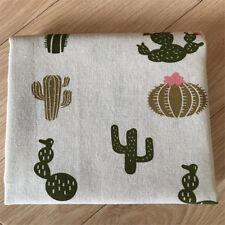 50x150cm Cotton Linen Fabric DIY Craft Material Print Cactus Opuntia F1209 G
