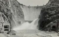c1930s Boulder Dam Real Photo Postcard RPPC Downstream Looking Up Unposted