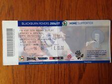 Blackburn Rovers v Arsenal 2006/07 FA Cup match ticket