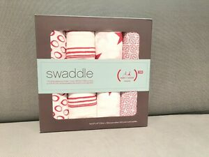 Aden & Anais Baby Muslin Swaddling Blanket 4 Pack (RED)Special Edition New