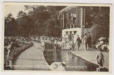 Dorset CARTE POSTALE - Enfants angle & KIOSQUE à musique,Bournemouth - P/U 1931
