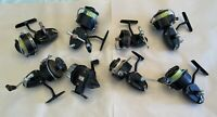 8 Vintage Garcia Mitchell Spinning Reels For Repair/Parts 7 France, 1 Sweden