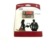 PNY Attaché 8GB USB Flash Drive P-FDU8GBSL-EF/RED New
