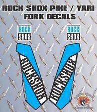 ROCK SHOX Fourche Autocollants Decals Graphics vtt DOWN HILL VTT Bleu