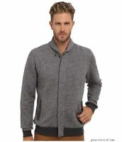 AG MEN'S PANORAMA GRAY WOOL BOMBER JACKET SZ LG CAVERN ADRIANO GOLDSCHMIED