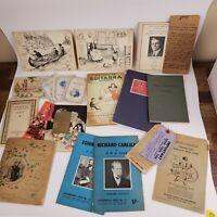 FUN Lot of of Vintage & Antique Ephemera Paper - Interesting Items!